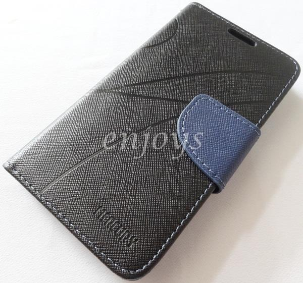 MERCURY Fancy Diary Book Case Cover Pouch Lenovo A516 ~Black