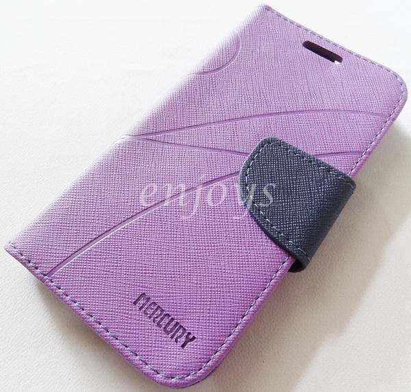 MERCURY Fancy Diary Book Case Cover Pouch Lenovo A706 ~Purple