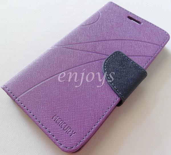 MERCURY Fancy Diary Book Case Cover Pouch Lenovo A766 ~Purple
