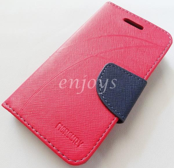MERCURY Fancy Diary Book Case Cover Sony Xperia E1 / D2105 ~Hotpink