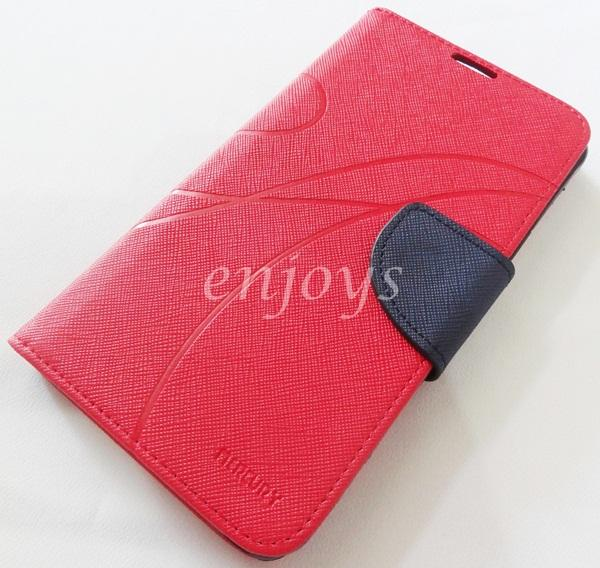 MERCURY Fancy Diary Case Cover Pouch Samsung Galaxy Note 4 /N910C ~RED