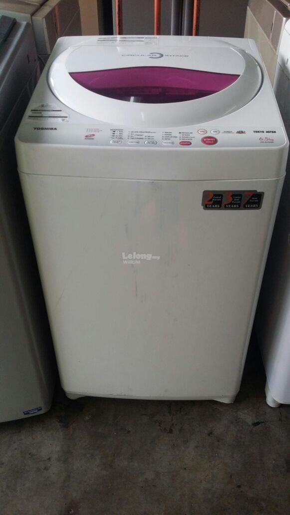 Mesin Basuh Toshiba Auto Fully Top Washing Machine Refurbish Recond