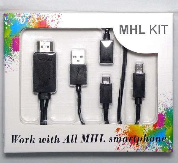 MHL Cable Adapter Samsung HTC microUSB to HDMI TV micro USB