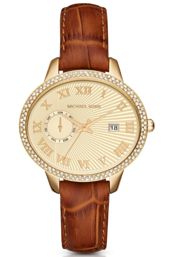 Michael Kors MK2428 Women's Whitley Oval Quartz Leather Watch