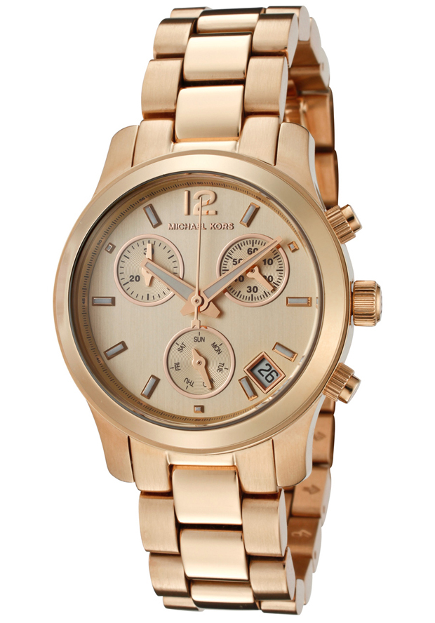 Michael Kors MK5430 Mini Runway Chronograph Rose Gold Tone Women's Wat