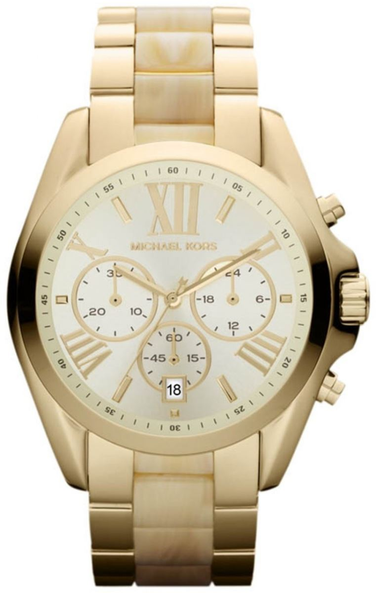 Michael Kors MK5605 Bradshaw Chronograph Gold Tone Women's Watch