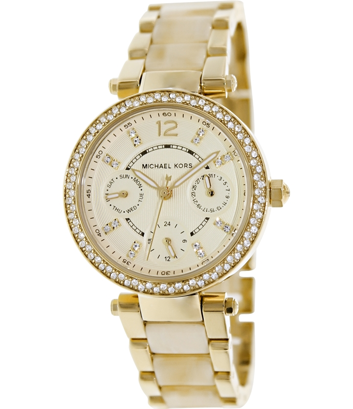 Michael Kors MK5842 Mini Parker Chronograph Two Tone Women's Watch