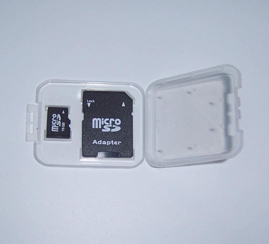 Micro SD SDHC Memory Card Case Holder Box Storage Plastic Transparent