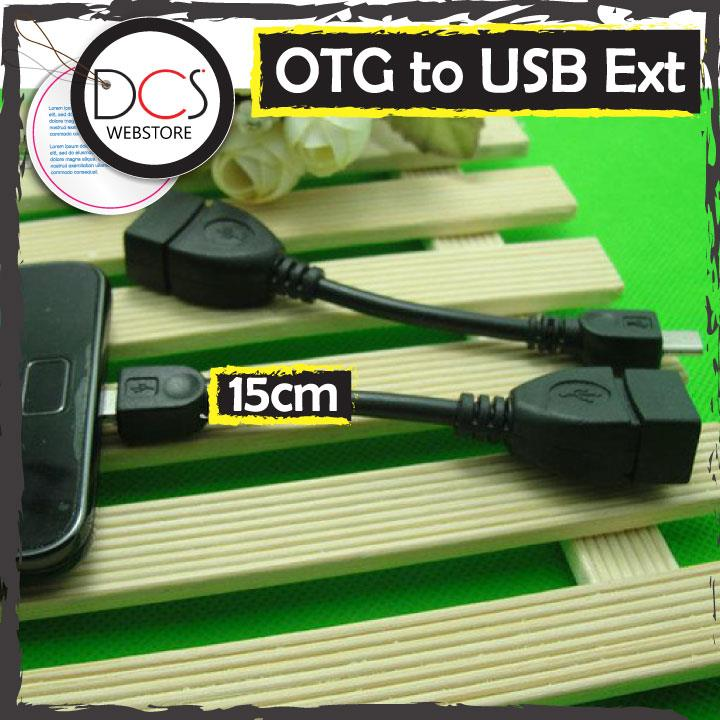 Micro USB OTG 5pin to USB 15cm Extender cable for PC/Phone/MP3