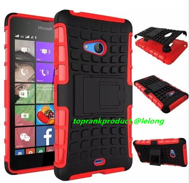 Microsoft Nokia Lumia 540 Stand Armor Case Cover Casing +Free Gift