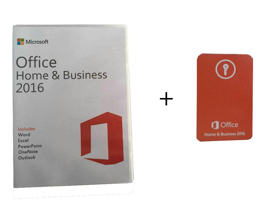 MICROSOFT OFFICE 2016 HOME AND & BUSINESS KEY CARD + INSTALLATION CD
