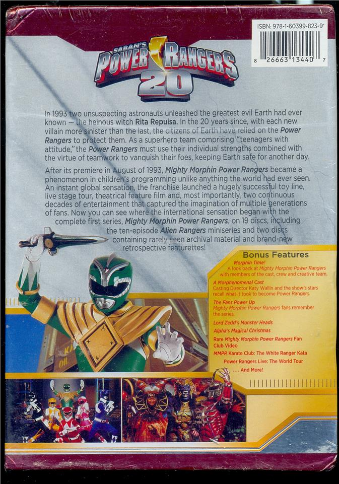 Migthy Morphin Power Rangers The Complete Series - New DVD Box Set