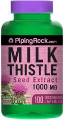 Milk Thistle Seed Extract, Silymarin, 1000 mg (100 Caps)