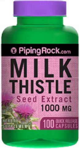 Milk Thistle Seed Extract, Silymarin, 1000 mg (100 Caps) Made In USA