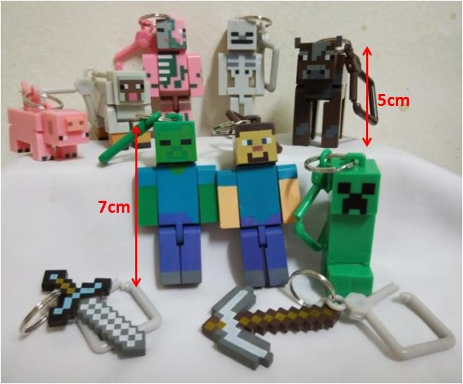 MineCraft Key Chain Toy Figures - MCF01