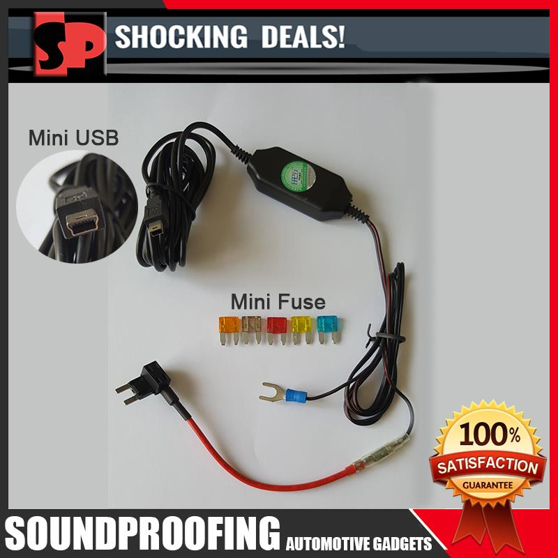 Mini Fuse Tap Adapter With DC12V to 5V 1.5A Converter Mini USB Power