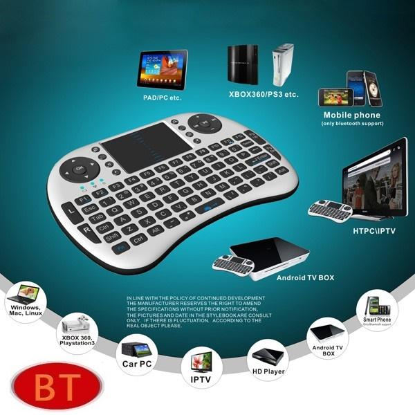 Mini Wireless Keyboard i8 With Mouse Touch Pad
