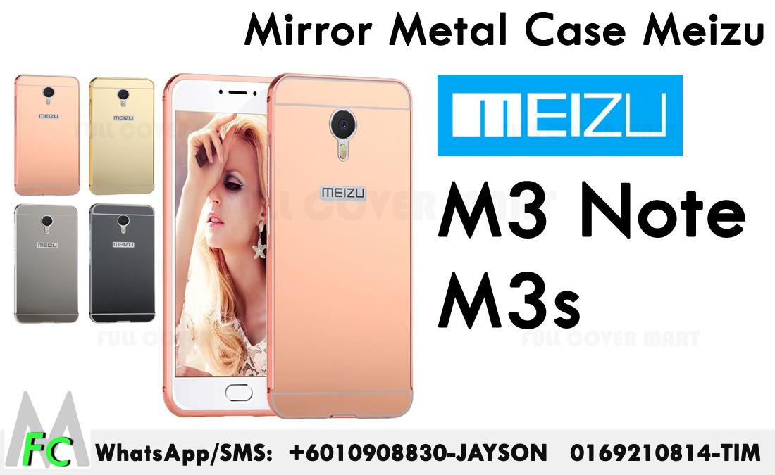 Mirror Metal case Meizu M3Note M3s M3 Note Cover