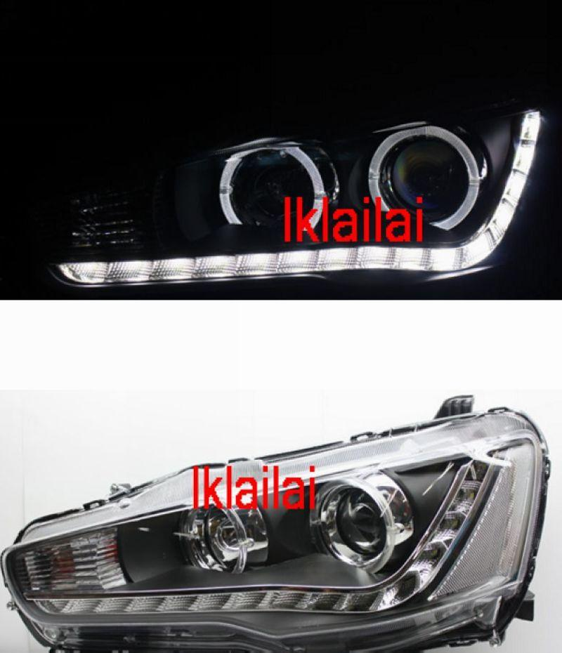 Mitsubishi Lancer '07-11 LED Ring Projector Head Lamp DRL R8