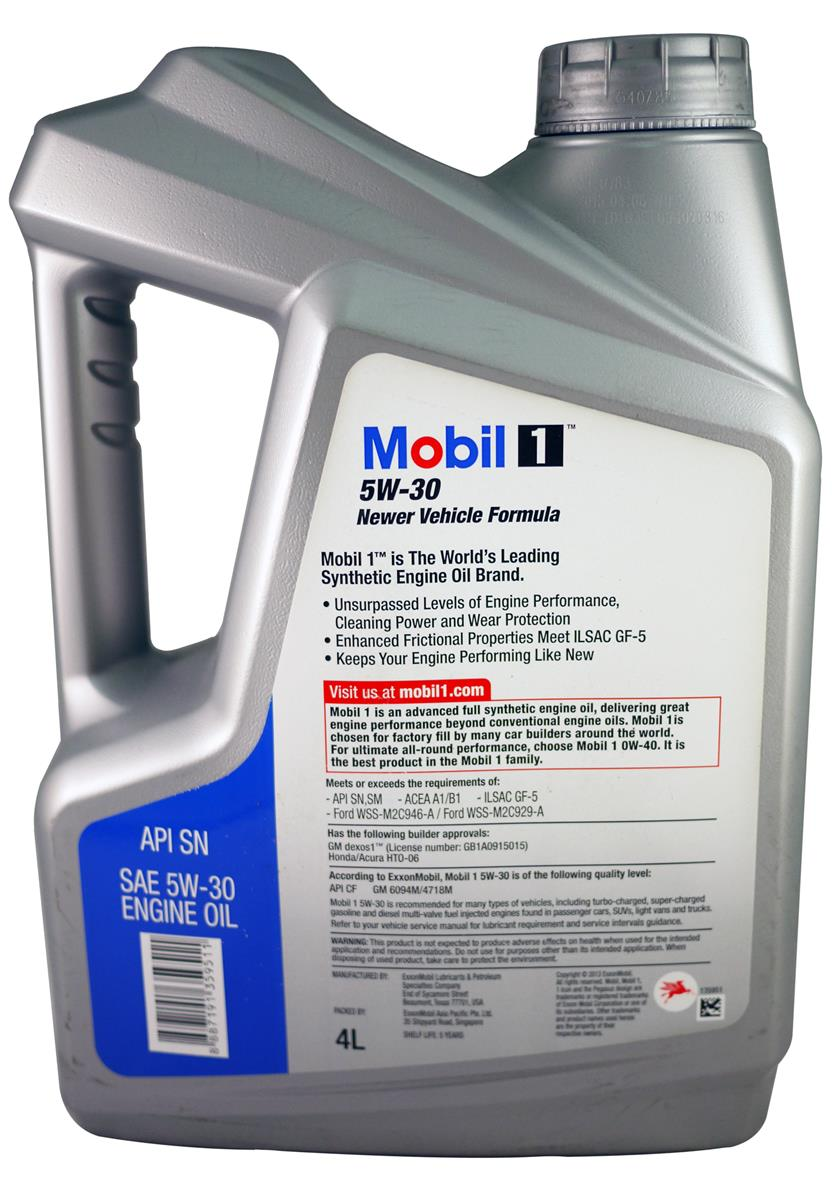 MOBIL 1 5W30 Newer Vehicle Formula FS Engine Oil(4Liter)