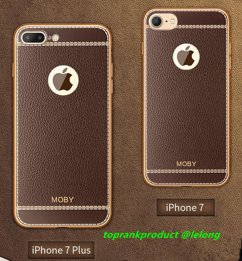 MOBY Apple iPhone 7 / Plus Leather Silicone Case Cover Casing + Gift