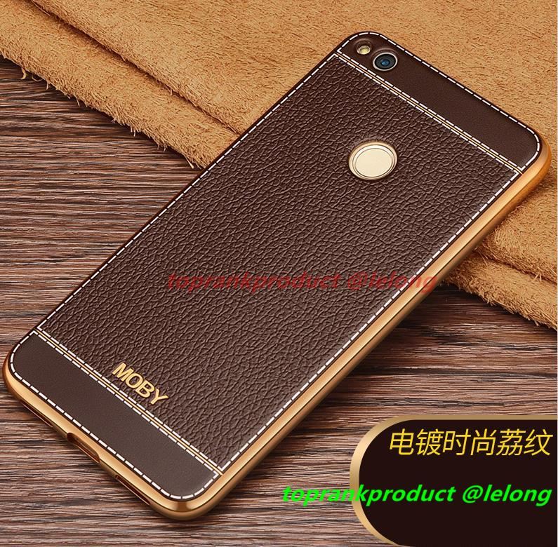 MOBY Huawei Nova Lite Leather TPU Soft Back Case Cover Casing + Gift