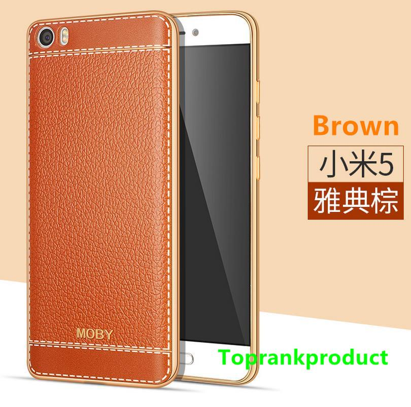 MOBY Xiaomi Mi 5 Mi5 Soft TPU Leather Case Cover Casing + Free Gift