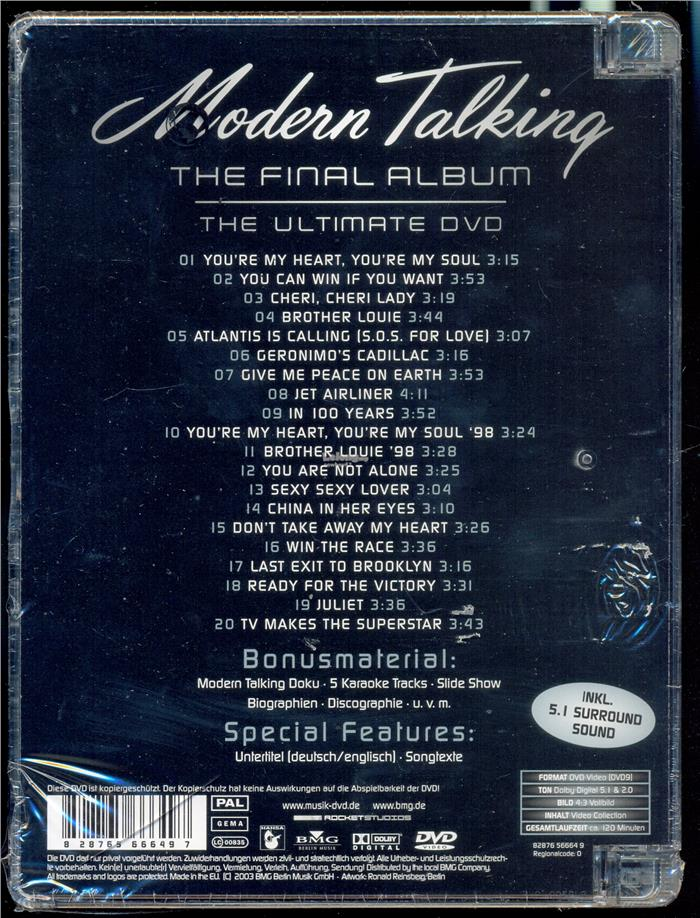 Modern Talking The Final Album - New DVD