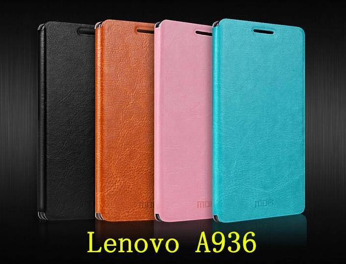 Mofi Lenovo Golden Warrior Note 8 A936 Flip Case Cover Casing + Gift