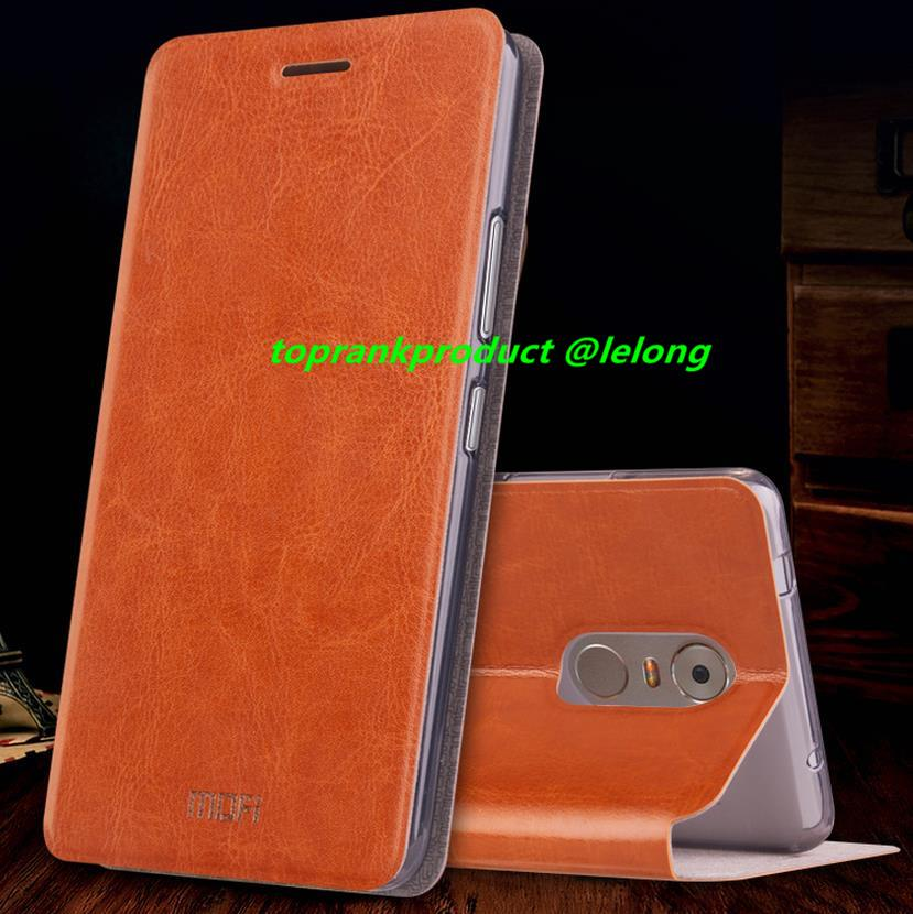 Mofi Lenovo K6 Note Flip PU Leather Stand Armor Case Cover Casing