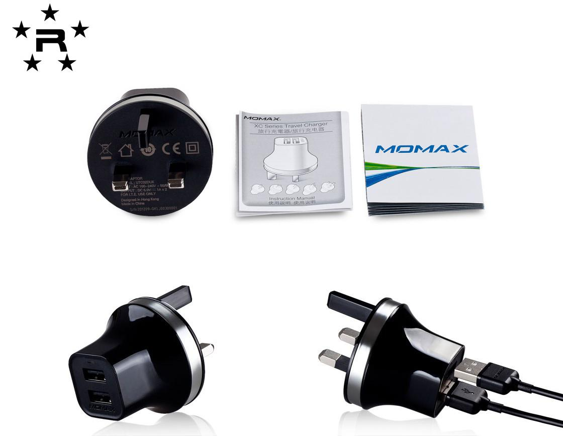 Momax original XC Series USB Travel Charger (Dual USB Output) - rmtlee