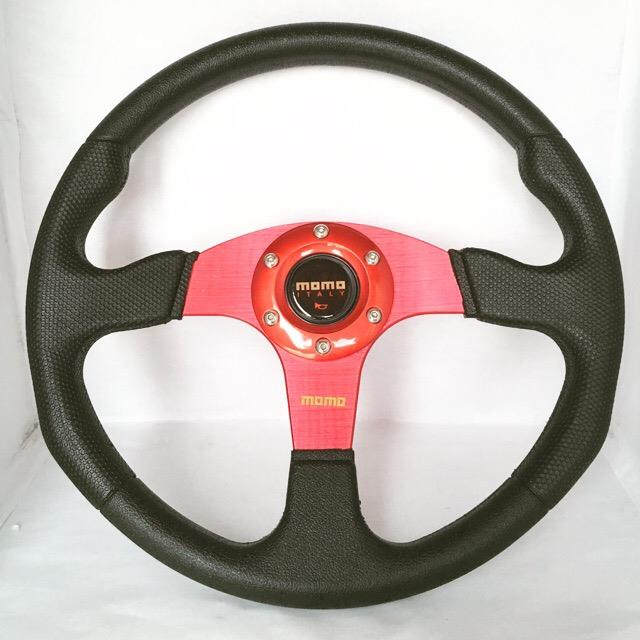 MoMo 14 inch sport steering Red