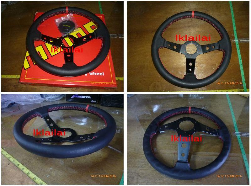 Momo Steering Suede Leather Black Colour 14 inch