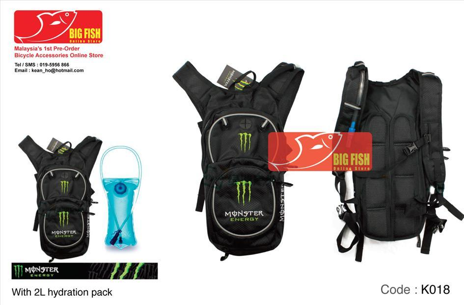 Monster Hydration pack 2L with bag (end 10/18/2016 1:15 PM)