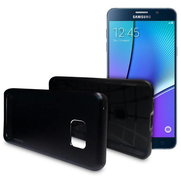Motomo TPU Metal Back Case Phone Cover for Samsung Galaxy Note 4