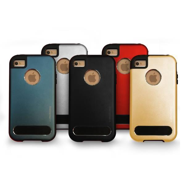 Motomo TPU Metal Mobile Phone Back Case Cover for iPhone 4 4S Casing
