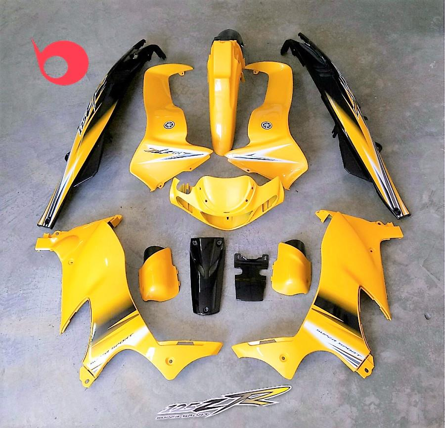 Motor Cover Set 125ZR Yellow Premium Clear On Sticker