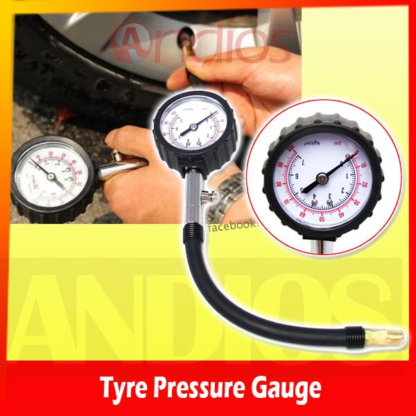 Motorcycle Car Tyre Tire Pressure Gauge Meter Air Tester Monitor