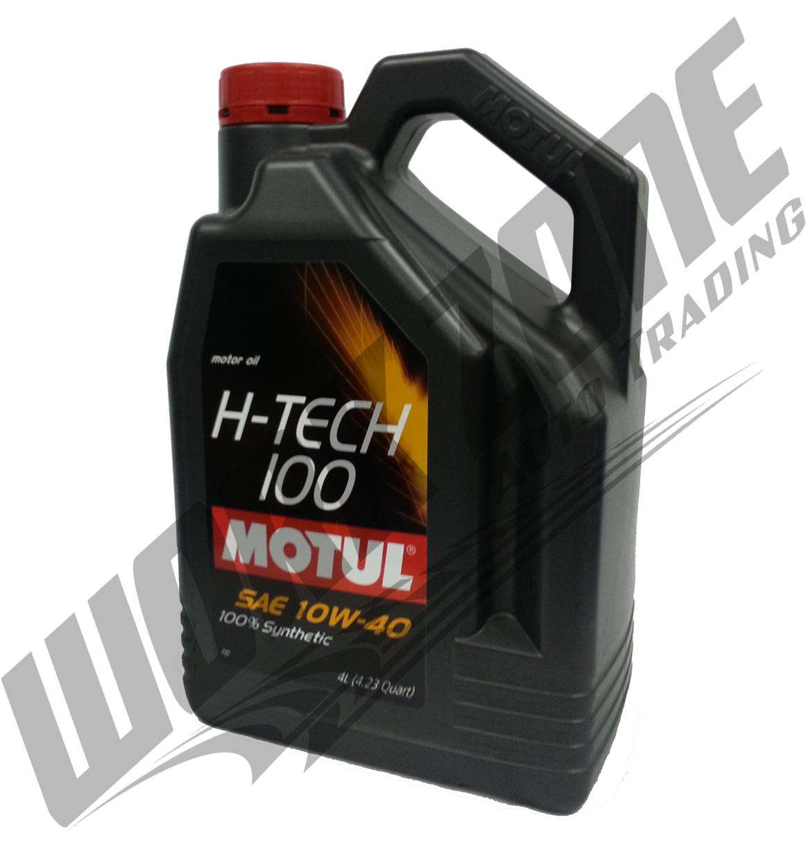 MOTUL H-TECH 100PLUS 10W40 SL/SM ENGINE OIL 4L