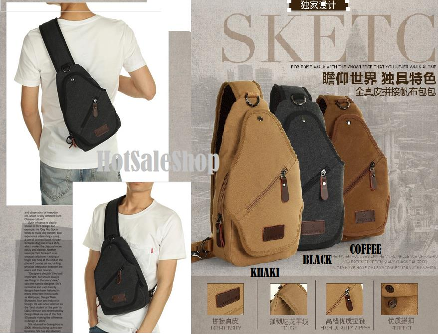 Moyyi Korean Men Shoulder Canvas Ba (end 4/27/2018 11:15 PM)