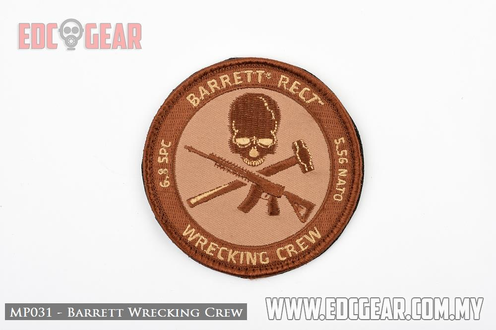 MP031 - Barrett Wrecking Crew - Military Morale Patches