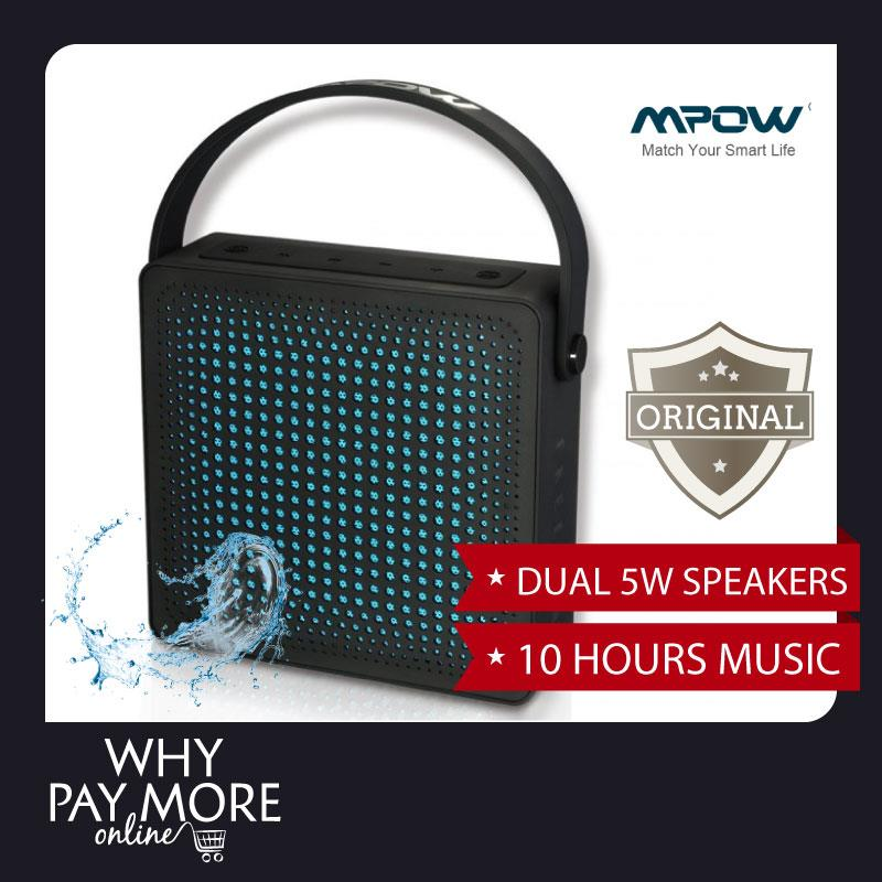 Mpow FreeBang Wireless Dual 5W Speaker 10-Hour Playing Time Waterproof