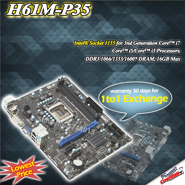Msi PH61 P35 1155 Socket DDR3 MotherBoard Build in VGA DVI