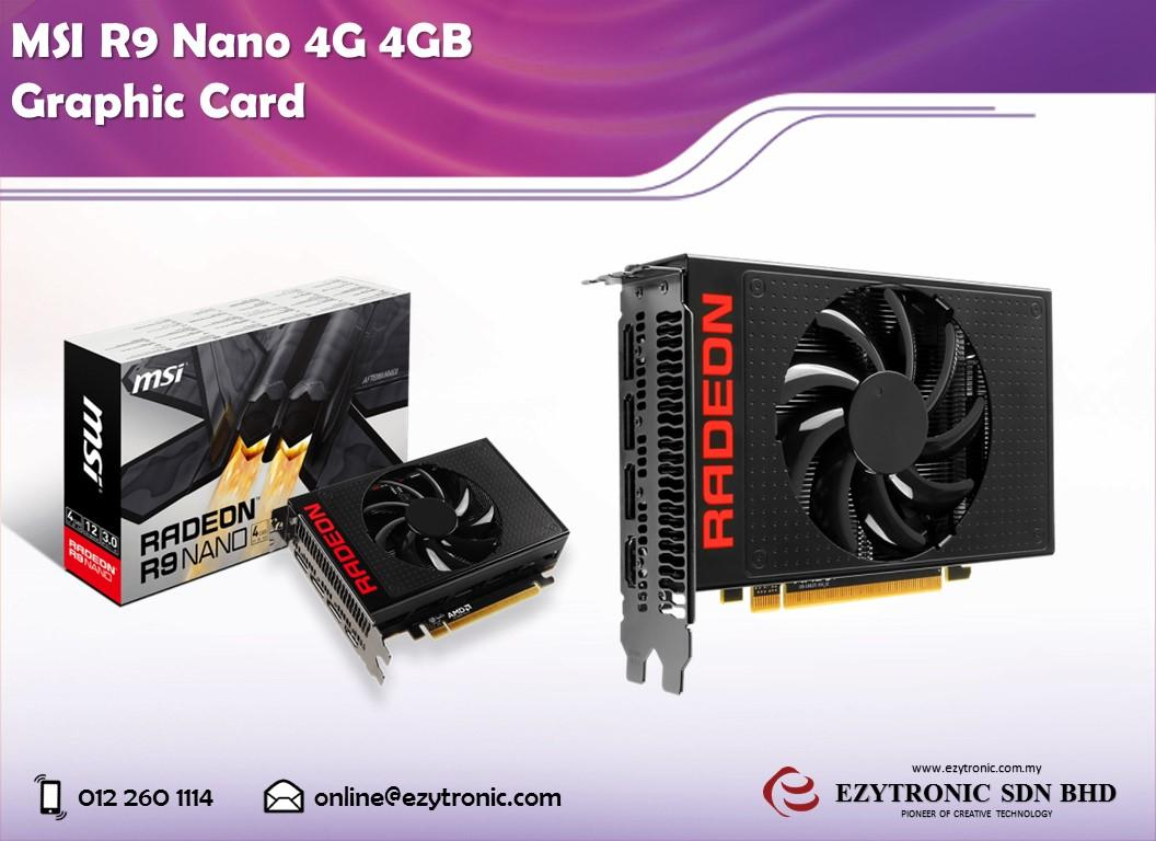 MSI R9 Nano 4G 4GB Graphic Card
