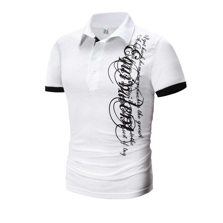 MSO03 Cotton Men Short Sleeve Polo T-Shirt TShirt