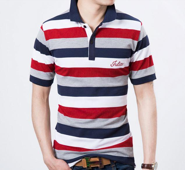 MSO08 Cotton Men Slim Fit Short Sleeve Polo T-Shirt
