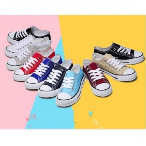 MT004323 Male Female Flat Casual Canvas Shoes