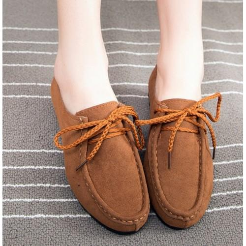 MT010862 Comfortable Flat Straps Suede Casual Peas Shoes