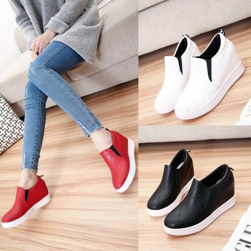 MT012155 Round Thick Bottom Height Increase Casual Wedges Shoes
