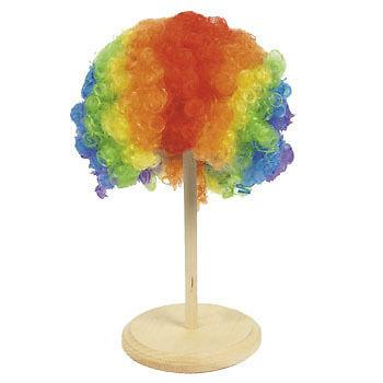Multi Coloured Clown Afro Wig Rainbow Color Curly Hair For Kid